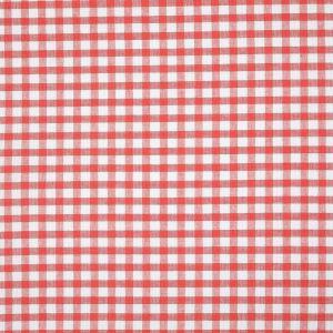 Tissu coton vichy orange et blanc