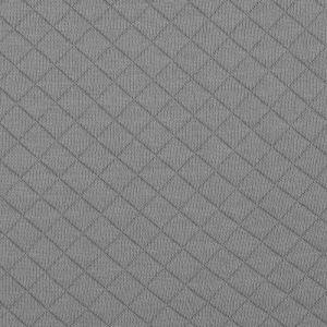 Tissu jersey matelassé gris