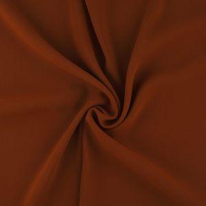 Tissu crêpe lourd orange brique
