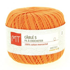 Fil à crocheter n°5 orange