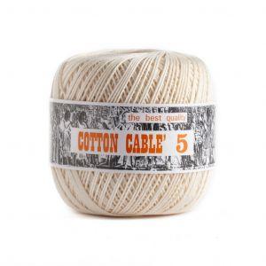Coton câblé à crocheter n°5 - Beige à Marron
