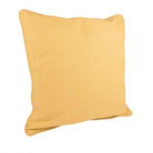 Coussin Chambray Stonewash jaune