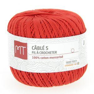 Fil à crocheter n°5 rouge