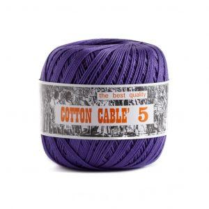 Coton câblé à crocheter n°5 - Rose à Violet