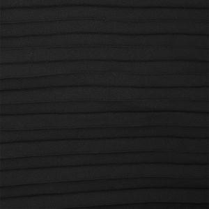 Tissu crêpe plissé noir