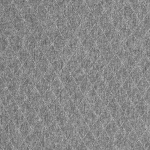 Tissu jersey matelassé gris chiné
