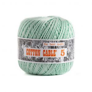 Coton câblé à crocheter n°5 - Vert