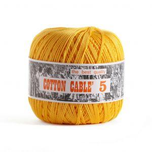Coton câblé à crocheter n°5 - Tons jaunes