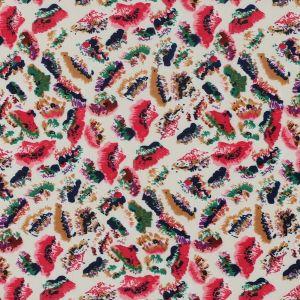 Tissu maille tacheté multicolore