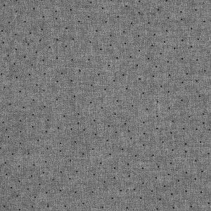 Tissu polyester pois gris