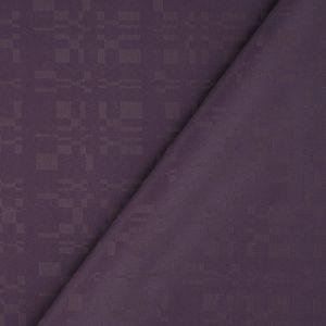Tissu anti-tache violet prune