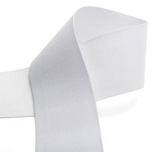 Élastique maille pour ceinture 80 mm - blanc