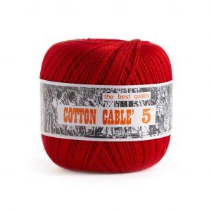 Coton câblé à crocheter n°5 - Rouge