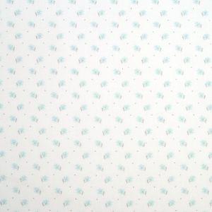 Tissu popeline trèfle argenté