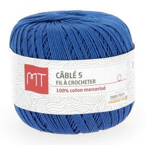 Fil à crocheter n°5 bleu indigo