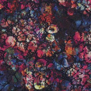 Tissu jacquard brodé à fleurs