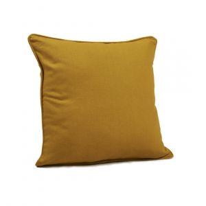 Housse de coussin jaune