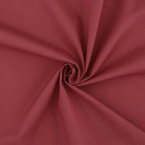 Tissu popeline coton unie rouge brique