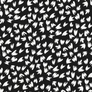 Tissu viscose print noir et blanc