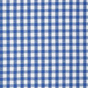 Tissu coton vichy bleu et blanc