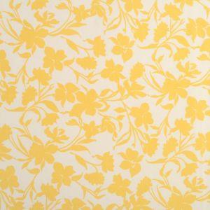 Tissu viscose fleurs jaunes
