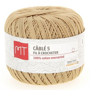 Fil à crocheter n°5 beige