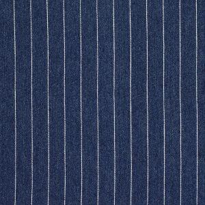 Tissu jean fines rayures blanches