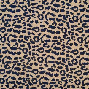 Tissu crêpe peau de bête beige et bleu marine