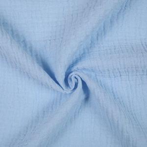 Tissu double gaze coton bleu ciel