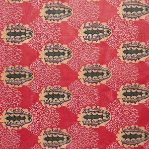 Tissu africain wax rouge