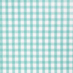 Tissu coton vichy vert et blanc