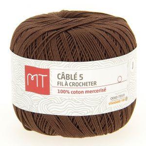 Fil à crocheter n°5 marron