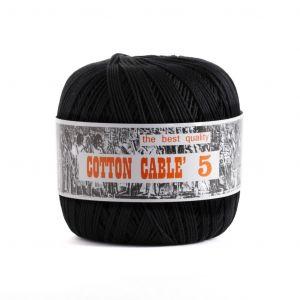 Coton câblé à crocheter n°5 - Blanc à noir