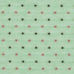 Tissu coton plumetis vert