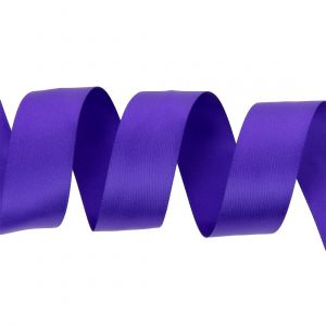 Ruban satin double face 25 mm violet