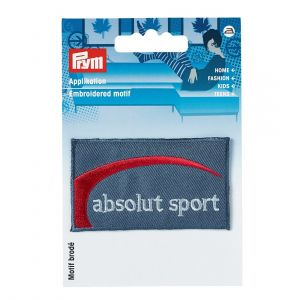 Écusson thermocollant Absolu sport