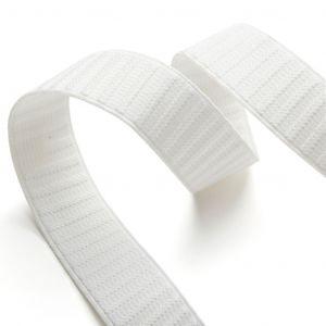 Elastique jupe et ceinture 25mm - Blanc