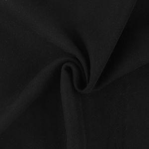 Tissu effet lainage noir