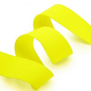 Élastique 40 mm jaune fluo