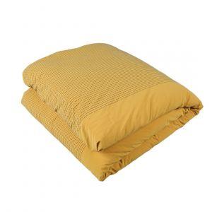 Parure de lit percale jaune