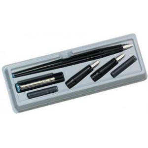 8623001 - Set de calligraphie, 5 pièces, en plastique noir