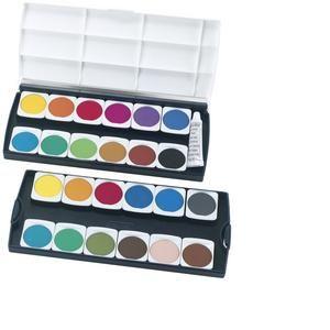 10199933 - Pastilles de gouaches ST24, 24 couleurs,en plastique
