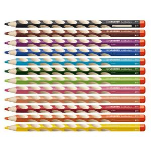 332/520 - Crayon de couleur ergonomique EASYcolors DROITIER, couleur vert feuillage