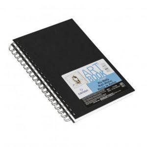 100516109 - Album spiralé Art Book Mix Media 40 feuilles 17,8x25,4 224g/m², grain moyen/fin, couverture noire