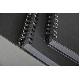 34264C - Carnet spiralé Goldline de 64 feuilles de papier à dessin noir, 140 g/m², A3