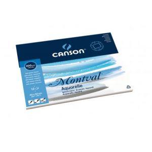 200006546 - Bloc 12 feuilles Montval® (collées 4 côtés) 40x50 300g/m², grain fin blanc naturel