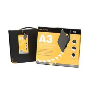 BPCJ1A3BKZ - Press Book GOLDLINE, format A3, 3 anneaux, en coffret
