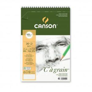 "400060603 - Album spiralé 30 feuilles ""C"" à grain® A4 125g/m², grain fin blanc naturel"