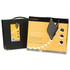 BPCJ1A4BKZ - Press Book GOLDLINE, format A4, 4 anneaux, en coffret