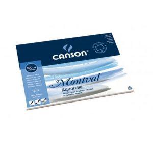 200006545 - Bloc 12 feuilles Montval® (collées 4 côtés) 30x40 300g/m², grain fin blanc naturel